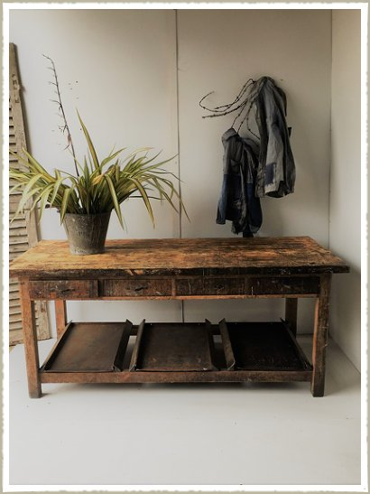 artist table workbench vintage