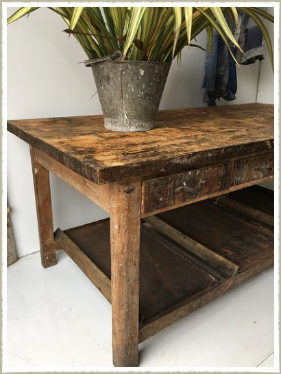 artist table vintage workbench