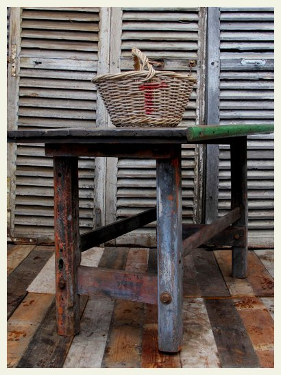 Vintage french kitchen table.