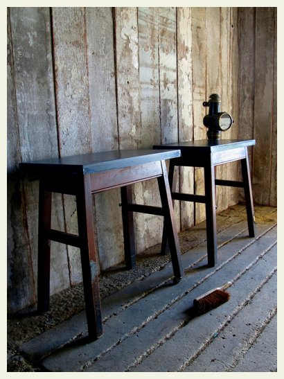 pair of zinc top tables 1
