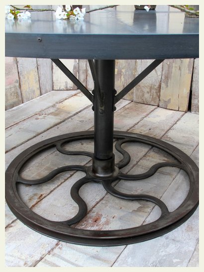 round industrial table base