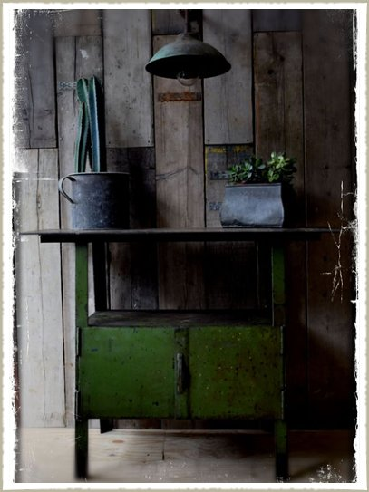green industrial vintage factory cabinet9