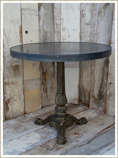 zinc top cafe table close uo