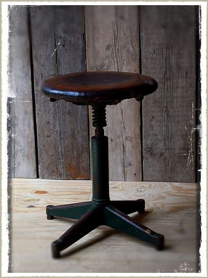 industrial stool green9