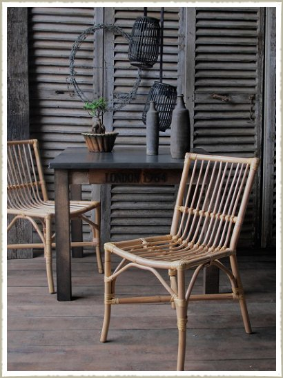 bamboo rattan  dining chair