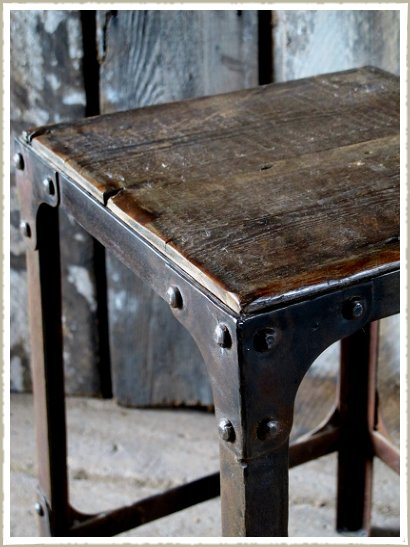 quirky rivet industrial stool top