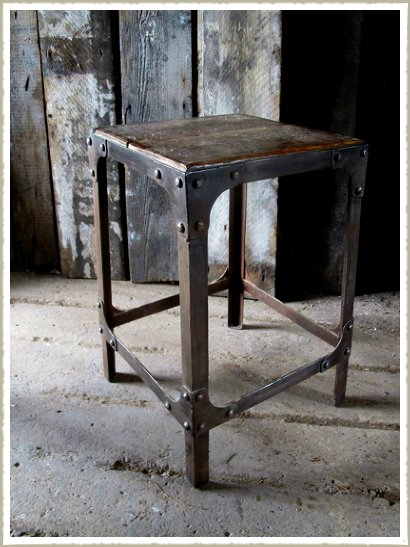 quirky rivet industrial stool