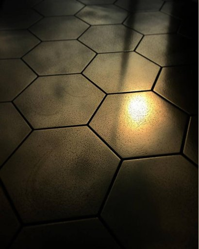 yellow brass hexagonal sample