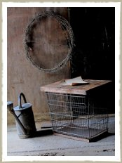Vintage wire storage basket
