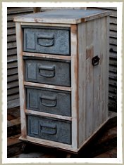 Reclaimed Industrial storage draws