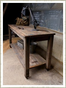 Quirky Pine Two Tier Work Table