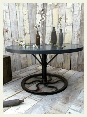 round industrial table wheel base