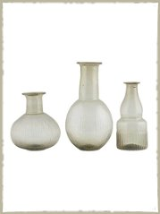 grey glass vases