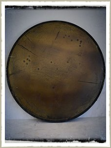 aged brass table top
