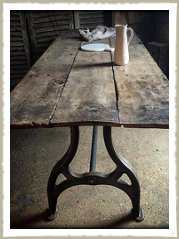 18th century oak table top cast base
