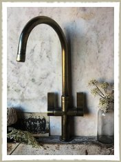 Brass tap aged  mixer industrial