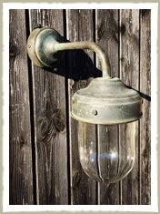 wall light brass rustic