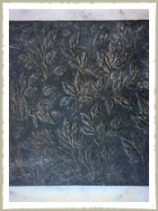 botanical bronze panel kitchen door
