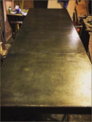 brass bar top long
