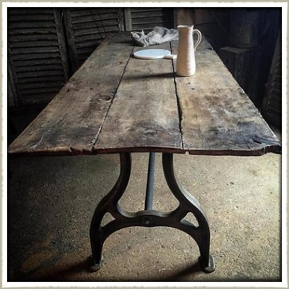 18th century oak plank topped table latest stock for Th 37px60b table top stand