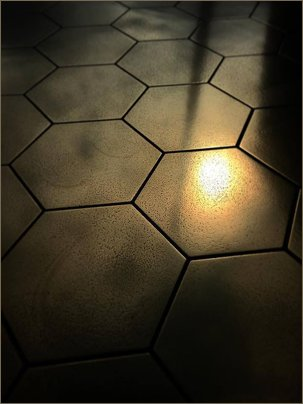 hex brass tiles