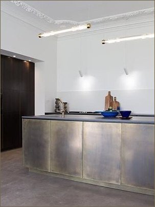 brass bronze  kitchen island channel 4